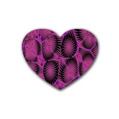 Self Similarity And Fractals Rubber Coaster (heart)  by Simbadda