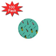 Guitar Pineapple 1  Mini Buttons (100 Pack)  by Alisyart