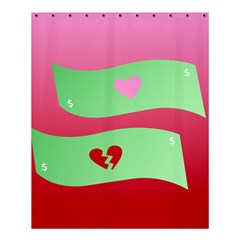 Money Green Pink Red Broken Heart Dollar Sign Shower Curtain 60  X 72  (medium)  by Alisyart