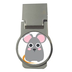 Mouse Grey Face Money Clips (round)  by Alisyart