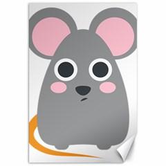Mouse Grey Face Canvas 20  X 30   by Alisyart