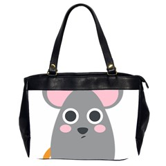 Mouse Grey Face Office Handbags (2 Sides)  by Alisyart