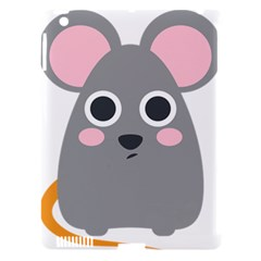Mouse Grey Face Apple Ipad 3/4 Hardshell Case (compatible With Smart Cover) by Alisyart