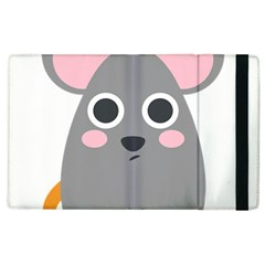 Mouse Grey Face Apple Ipad 3/4 Flip Case by Alisyart