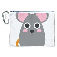 Mouse Grey Face Canvas Cosmetic Bag (xxl) by Alisyart