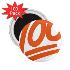 Number 100 Orange 2 25  Magnets (100 Pack)  by Alisyart