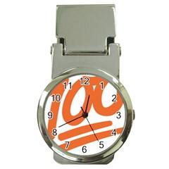 Number 100 Orange Money Clip Watches by Alisyart