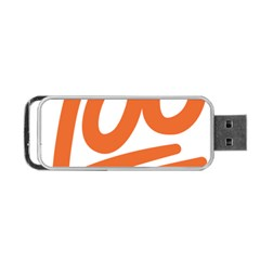 Number 100 Orange Portable Usb Flash (two Sides) by Alisyart