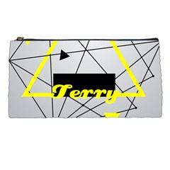 Triangle Yollow Pencil Case by pushu