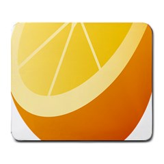 Orange Lime Yellow Fruit Fress Large Mousepads by Alisyart
