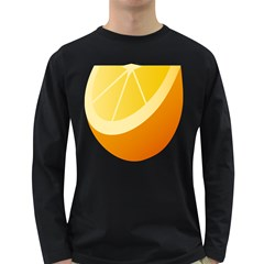 Orange Lime Yellow Fruit Fress Long Sleeve Dark T Shirts by Alisyart
