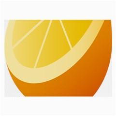 Orange Lime Yellow Fruit Fress Large Glasses Cloth by Alisyart