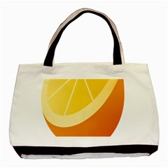 Orange Lime Yellow Fruit Fress Basic Tote Bag (two Sides) by Alisyart