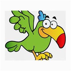 Parrot Cartoon Character Flying Small Glasses Cloth by Alisyart