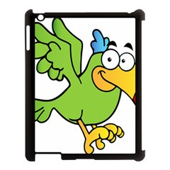 Parrot Cartoon Character Flying Apple Ipad 3/4 Case (black) by Alisyart