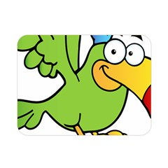 Parrot Cartoon Character Flying Double Sided Flano Blanket (mini)  by Alisyart