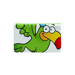 Parrot Cartoon Character Flying Cosmetic Bag (xs) by Alisyart