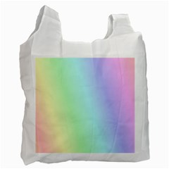 Multi Color Pastel Background Recycle Bag (one Side) by Simbadda