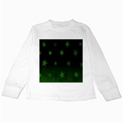 Nautical Star Green Space Light Kids Long Sleeve T Shirts by Alisyart