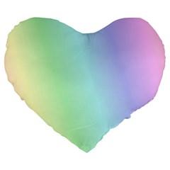 Multi Color Pastel Background Large 19  Premium Heart Shape Cushions by Simbadda