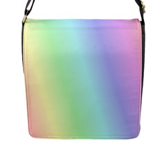 Multi Color Pastel Background Flap Messenger Bag (l)  by Simbadda