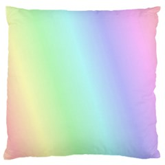 Multi Color Pastel Background Standard Flano Cushion Case (one Side) by Simbadda