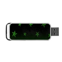 Nautical Star Green Space Light Portable Usb Flash (two Sides) by Alisyart