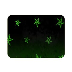 Nautical Star Green Space Light Double Sided Flano Blanket (mini)  by Alisyart