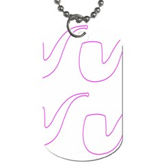Pipe Template Cigarette Holder Pink Dog Tag (two Sides) by Alisyart