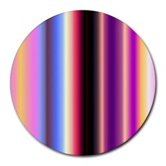 Multi Color Vertical Background Round Mousepads by Simbadda