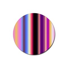 Multi Color Vertical Background Rubber Coaster (round)  by Simbadda