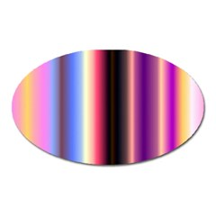 Multi Color Vertical Background Oval Magnet by Simbadda