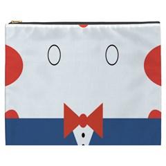 Peppermint Butler Wallpaper Face Cosmetic Bag (xxxl)  by Alisyart