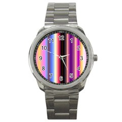 Multi Color Vertical Background Sport Metal Watch by Simbadda