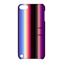Multi Color Vertical Background Apple Ipod Touch 5 Hardshell Case With Stand by Simbadda