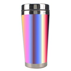 Multi Color Vertical Background Stainless Steel Travel Tumblers by Simbadda