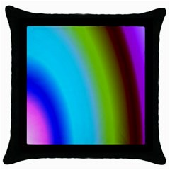 Multi Color Stones Wall Multi Radiant Throw Pillow Case (black) by Simbadda