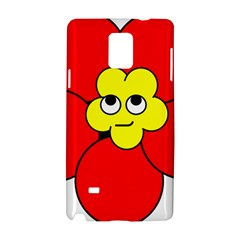 Poppy Smirk Face Flower Red Yellow Samsung Galaxy Note 4 Hardshell Case by Alisyart