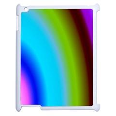 Multi Color Stones Wall Multi Radiant Apple Ipad 2 Case (white) by Simbadda