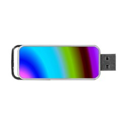 Multi Color Stones Wall Multi Radiant Portable Usb Flash (two Sides) by Simbadda