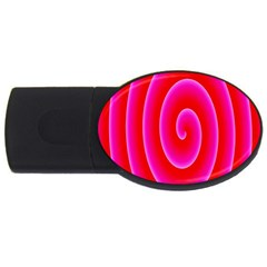 Pink Hypnotic Background Usb Flash Drive Oval (2 Gb) by Simbadda