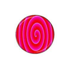 Pink Hypnotic Background Hat Clip Ball Marker (4 Pack) by Simbadda