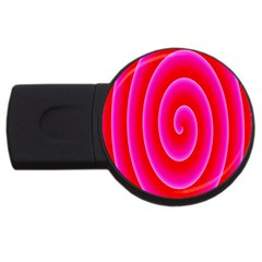 Pink Hypnotic Background Usb Flash Drive Round (4 Gb) by Simbadda