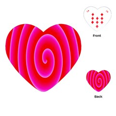 Pink Hypnotic Background Playing Cards (heart)  by Simbadda