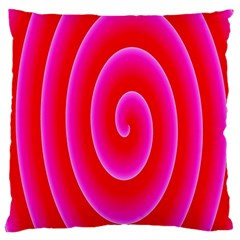 Pink Hypnotic Background Large Cushion Case (two Sides) by Simbadda