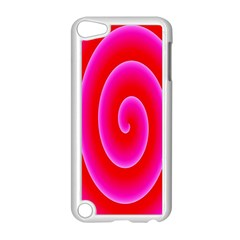Pink Hypnotic Background Apple Ipod Touch 5 Case (white) by Simbadda
