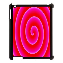 Pink Hypnotic Background Apple Ipad 3/4 Case (black) by Simbadda