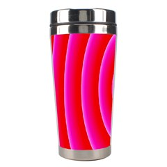 Pink Hypnotic Background Stainless Steel Travel Tumblers by Simbadda