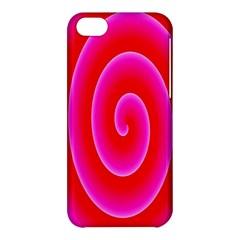 Pink Hypnotic Background Apple Iphone 5c Hardshell Case by Simbadda