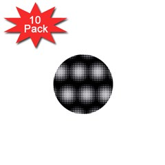 Black And White Modern Wallpaper 1  Mini Buttons (10 Pack)  by Simbadda